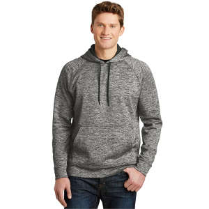 Sport-Tek® PosiCharge® Electric Heather Fleece Hooded Pullover - Men's