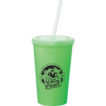 Miami 16 oz Double-Wall Tumbler with Straw