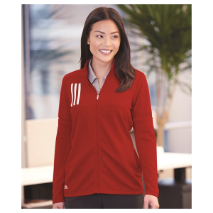 Adidas Women's 3-Stripes Double Knit Full-Zip